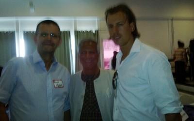 Local representative Haiti meets Muhammed Yunus